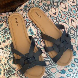 Torrid Size 12 Black Slides New